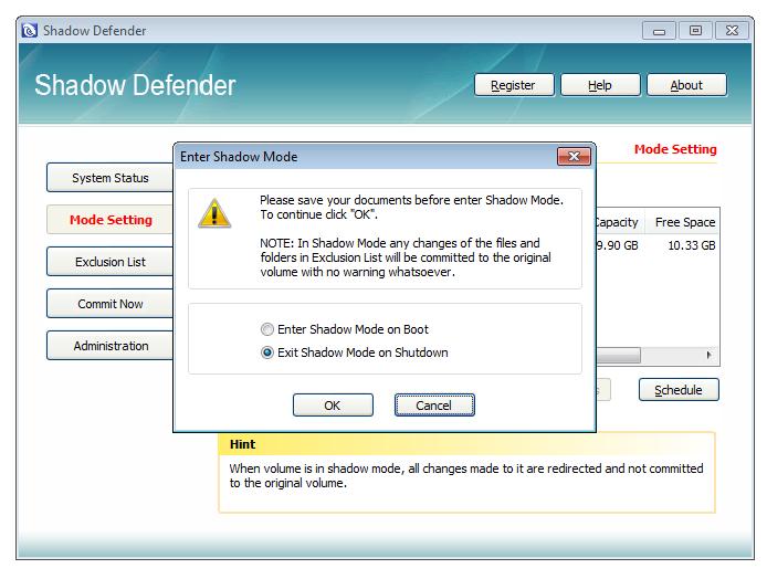 Shadow Defender(影子windows7密钥激活保护) 1.4.0.668 简体中文免费版