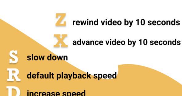 网页视频播放速度调节插件